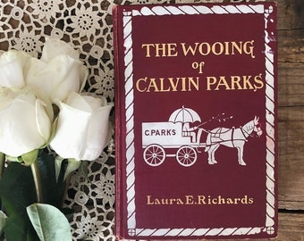 Antique Vintage Early 1900s First Edition Book - The Wooing of Calvin Parks by Laura E. Richards