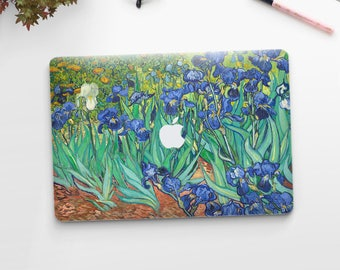 "Vincent Van Gogh, ""Irises"". Macbook Pro 15 decal, Macbook Pro 13 decal, Macbook 12 decal. Macbook Pro decal. Macbook Air decal."