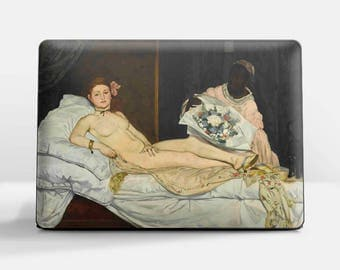 "Laptop skin (Custom size). Edouard Manet, ""Olympia"". Laptop cover, HP, Lenovo, Dell, Sony, Asus, Samsung etc."