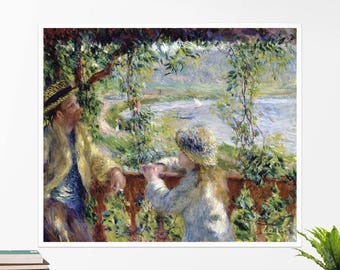 "Pierre-Auguste Renoir, ""By the Water"". Art poster, art print, rolled canvas, art canvas, wall art, wall decor"
