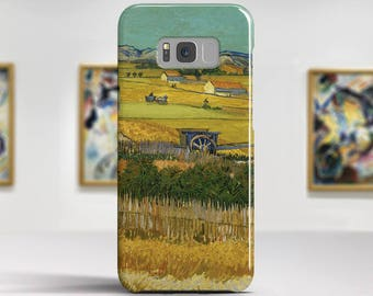 "Vincent van Gogh, ""Harvest at La Crau"".Samsung Galaxy S8 Plus Case LG V30 case Google Pixel Case Galaxy A5 2017 Case. Art phone cases."