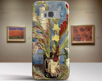 "Vincent van Gogh, ""Vase With Gladioli"". Samsung Galaxy S8 Case LG V30 case Google Pixel Case Galaxy J7 2017 Case and more. Art phone cases."