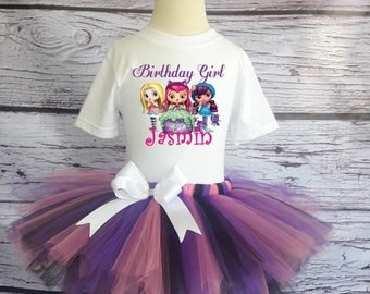 Little Charmers Tutu Outfit Little Charmers Birthday Tutu Set Little Charmers Birthday Outfit Little Charmers Tutu-LC001