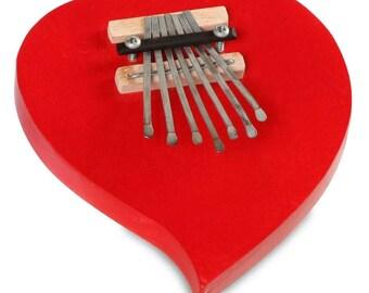 Red Heart Kalimba Thumb Piano