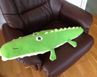 Soft fleece crocodile