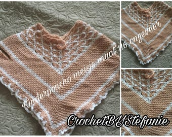 SAMPLE SALE!! Crochet Girls Poncho Shell