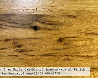 Ready to Install Reclaimed Wood Floor, Rustic Oak Floor, Smooth, Barnwood Flooring, Oak Floor, Hardwood Floor, Reclaimed Oak Floor