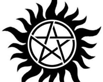 Supernatural Logo Vinyl Car Decal Bumper Window Sticker Any Color Multiple Sizes Custom