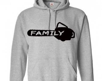 Saw is Family Texas Chainsaw Massacre Unisex Hoodie Pullover Hooded Sweatshirt Many Sizes Colors Custom Horror Halloween Merch Massacre
