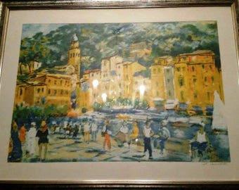 """Michele Cascella-Piazzetta of Portofino """""""