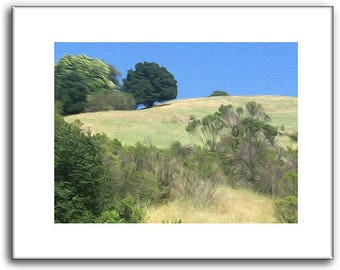 Pasture - Green Pasture print - Nature Prints - 11 x 14