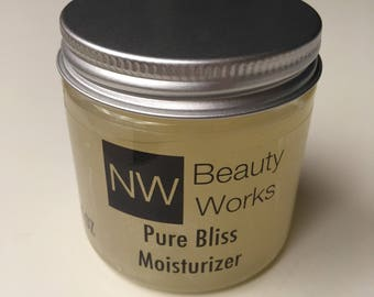 Pure Bliss Moisturizer | Ylang Ylang & Grapefruit Essential Oil | NEVER greasy! | Daily Moisturizer | Safe for sensitive skin! 4 oz