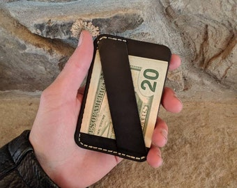 Business card wallet, leather minimalist wallet, leather business card wallet, front pocket wallet, slim leather wallet, handmade wallet