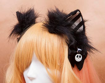 Halloween Kitty Ears Headband