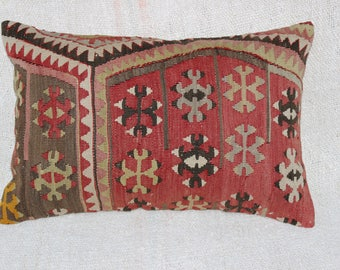 "Turkish Pillow,Lumbar Pillow,Cushion Cover,Handmade Pillow,Bohemian Pillow,16""x24""inches,40x60 cm"
