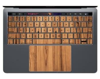 Wood MacBook Keyboard Wood MacBook Decal MacBook Sticker Keys Key Decals MacBook Skin Wood Texture MacBook Pro MacBook Air 13 15 11 12 FSM23