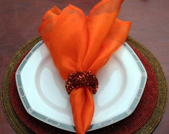 "Orange sheer Napkins 20"" X 20"""