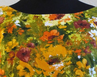 Vintage Multi-Colored Floral A-Line Dress For All Seasons