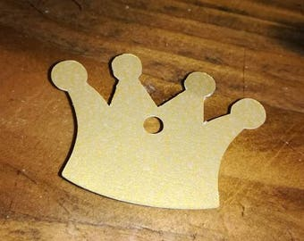 12 x Gold Crown label