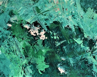 ORIGINAL---Deep Sea---Abstract Acrylic Painting on Paper