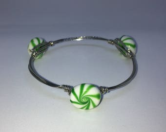 Green Peppermint candy bracelet