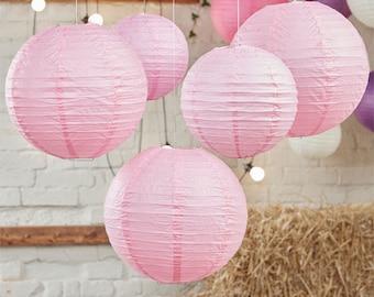 Boho Wedding Paper Lanterns - 30cm & 20.5cm