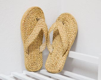 Straw sandals Thai Weaving seagrass(water hyacinth)  / handmade  boho shoes #5