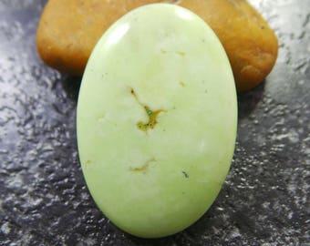 Natural Lemon Chrysoprase Smooth Oval Cabochon, Lemon Chrysoprase Cabochon, 32.5x22x4.5 MM Size - High Quality - Loose Gemstone