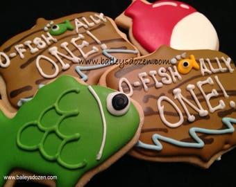O Fish Ally One | Fishing cookies | Birthday boy gone fishing | Bobbers | Colorful fish | 1st Birthday | The big ONE | Fishing Lure | favors