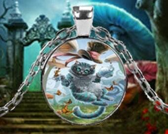 Alice In Wonderland Cheshire Cat Pendant