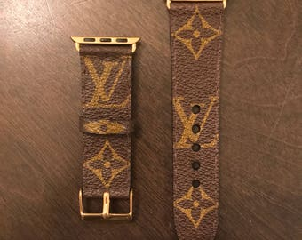 Louis Vuitton Apple Watch band Custom made 38mm and 42mm available Supreme Yeezy LV