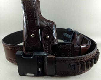 WoW Handcrafted  Makarov Pistol Stylish and amazing belt leather Holster( Right Handed)