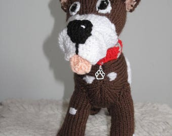 Knitted Toy Dog