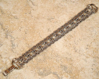 Vintage 1958 Goldette Link Bracelet, Vintage Designer Chain Link Bracelet, Vintage Multi Chain Link Bracelet, Vintage Goldette NY Bracelet