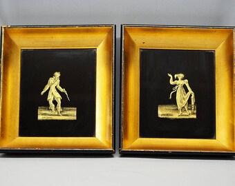 Jean Hanau Art Deco Eglomise Decorative Pictures