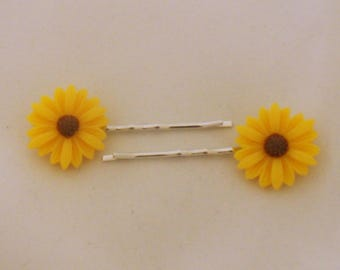 Sunflower Hairslides