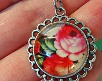 Warm Vintage Floral pendant