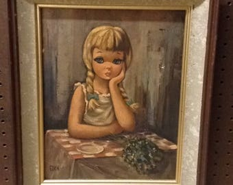 Eden: Pensive 1960's Painting