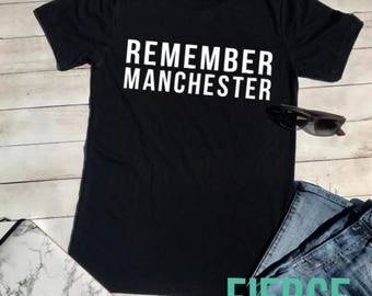Remember Manchester Charity Fund Shirt, Charity Shirt, Manchester, Pray for Manchester