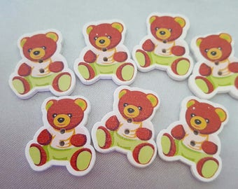 """""""Pooh"""" wood buttons."""