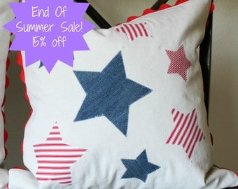 20x20 Stars and Stripes Pillow Cover