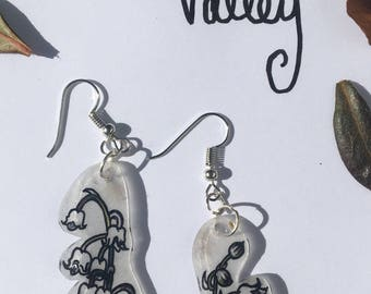 The Gothic Garden: Lily of the Valley earrings