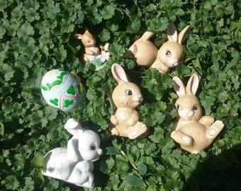 HOMCO Porcelain Bunny Knickknacks