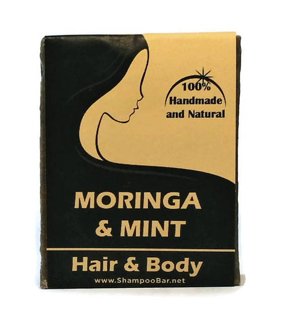 Moringa Shampoo - Mint Hair Bar - Natural Shampoo - Moringa Mint - Solid Shampoo Bar - Mint Shampoo - Gym Shampoo - Solid Shampoo Bar