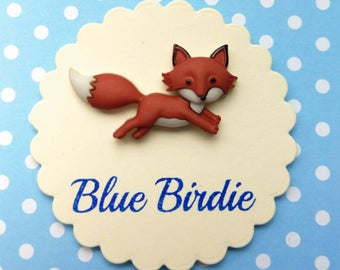 Fox brooch fox jewelry fox badge running fox brooch fox jewellery cute fox jewelry fox gift