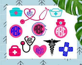 Stethoscope svg Nurse svg files rn svg Lpn DIY Heart Shaped stethoscope svg files for cricut svg for silhouette vector cut files svg lfvs