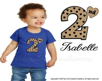 Second Birthday shirt, Birthday girl outfit, second birthday shirt girl, 2nd Birthday, 2nd birthday outfit girl,  Gold and Black, Gift