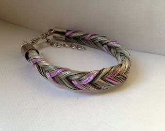 Colorful threads horsehair bracelet