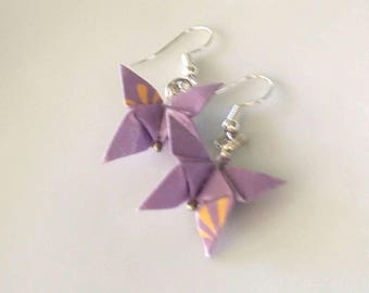 Origami Butterfly Earrings-Japanese Washi- Paper Earrings-Dangle& Drop earrings-Origami Jewellery-Anniversary