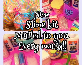 Slime kit of the month club!! Ill mail you our best and latest slime kits each month!! You will be the first to try it!!